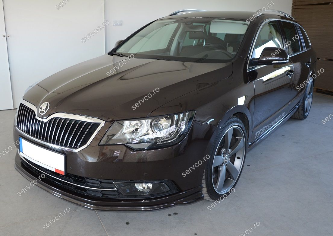 prelungire spoiler tuning sport bara fata skoda superb facelift 2 b6 3t 2013 2015 ver1 servco. Black Bedroom Furniture Sets. Home Design Ideas