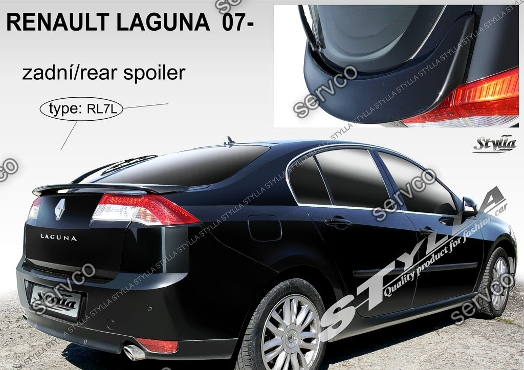 eleron spoiler tuning sport portbagaj renault laguna 3 liftback sedan gt 2007 2015 ver1 servco. Black Bedroom Furniture Sets. Home Design Ideas