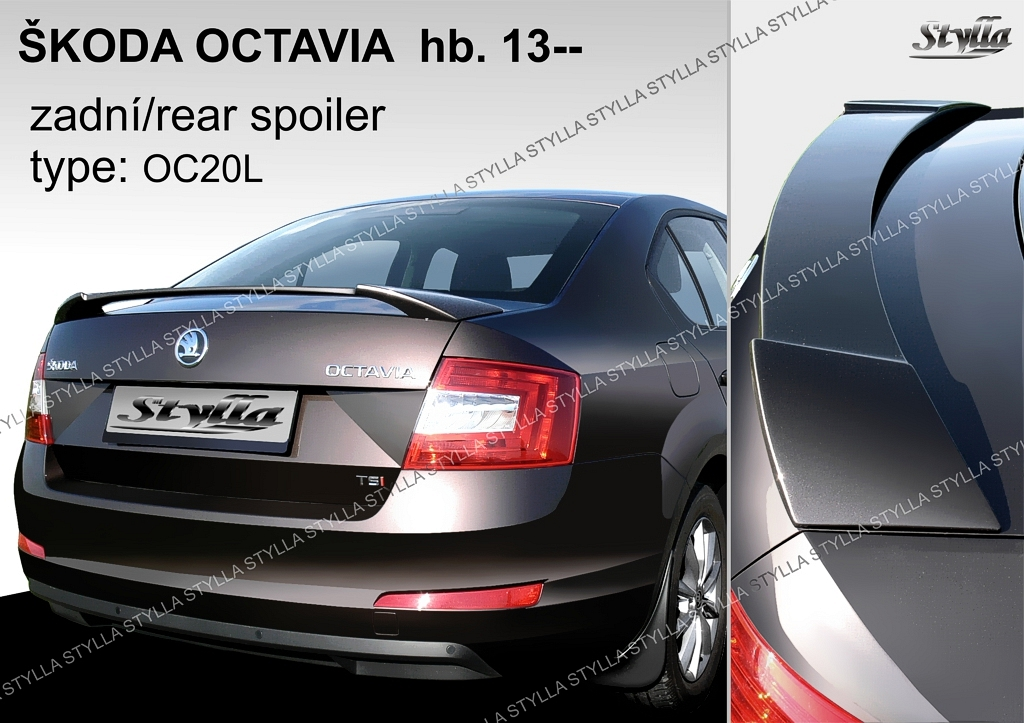 eleron spoiler tuning sport portbagaj skoda octavia 3 5e. Black Bedroom Furniture Sets. Home Design Ideas