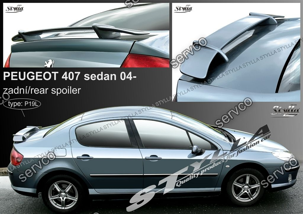 eleron spoiler tuning sport peugeot 407 2004 2010 ver1. Black Bedroom Furniture Sets. Home Design Ideas