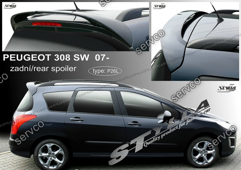 eleron spoiler tuning sport peugeot 308 sw station wagon. Black Bedroom Furniture Sets. Home Design Ideas