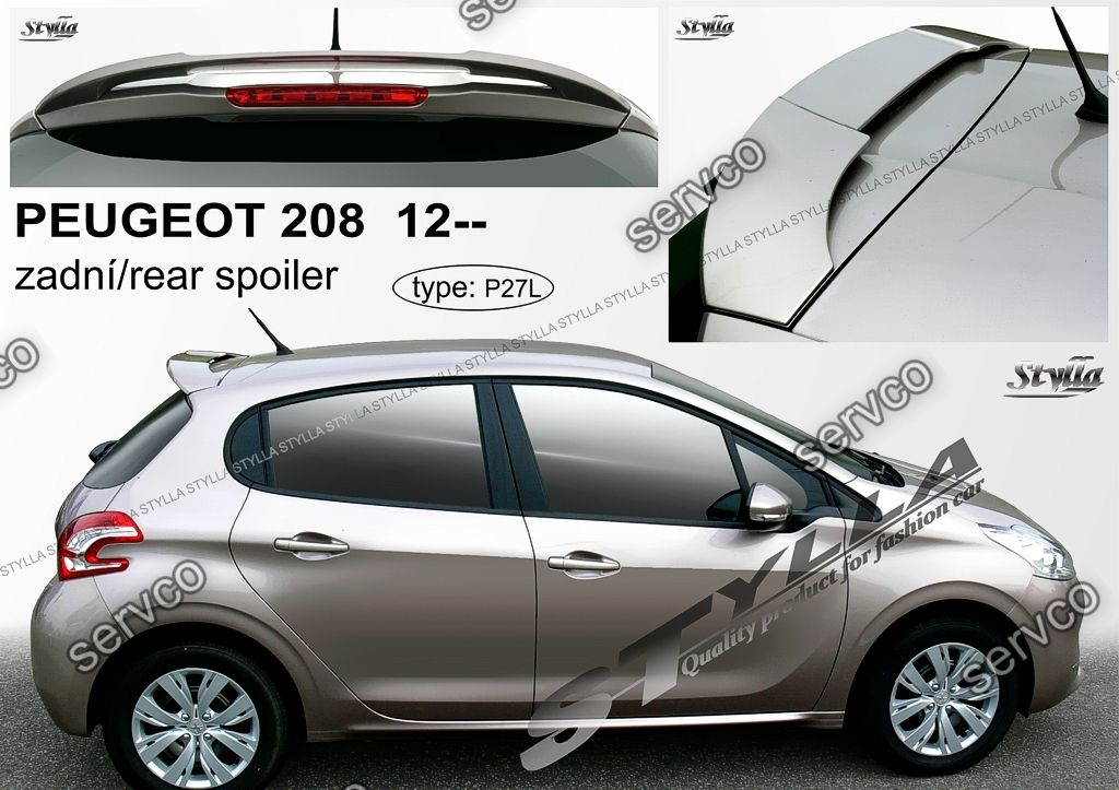 eleron spoiler tuning peugeot 208 sport gti vti rally r. Black Bedroom Furniture Sets. Home Design Ideas