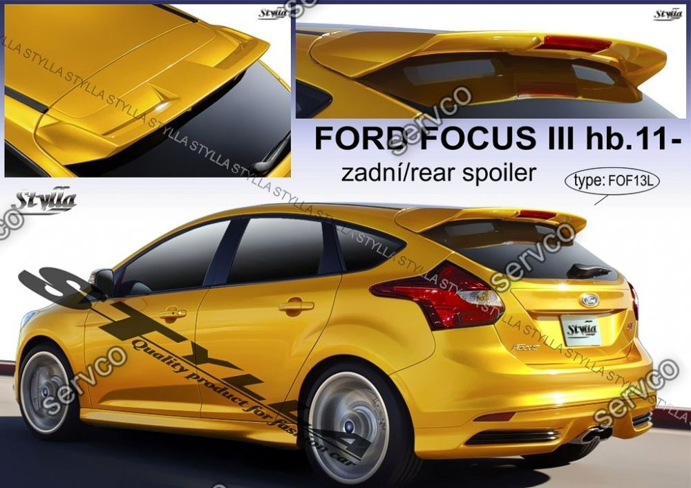 eleron spoiler tuning sport ford focus mk3 st hb hatchback. Black Bedroom Furniture Sets. Home Design Ideas