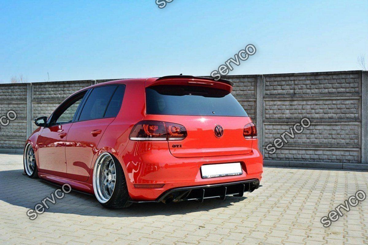 Difuzor spoiler prelungire splitter bara spate Volkswagen Golf 6 Mk VI GTI 35TH 2008-2012 v4