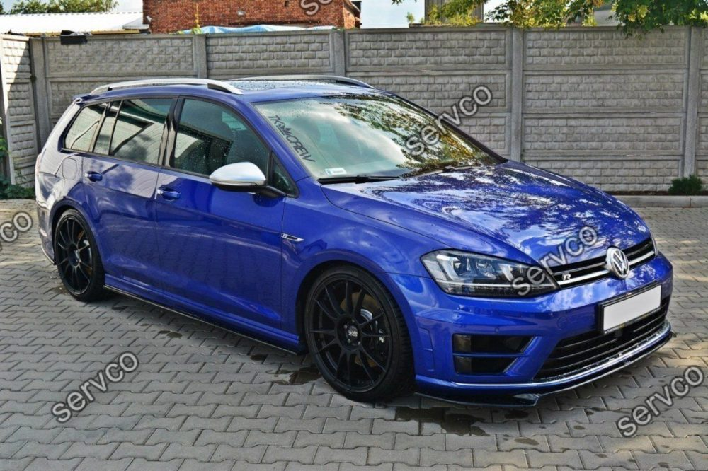 Set ornamente praguri laterale Volkswagen Golf 7 Mk VII R Estate Hatchback 2013-2016 v2