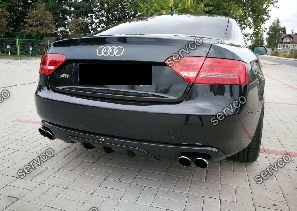 Difuzor evacuare spoiler tuning sport bara spate Audi A5 Coupe Cabrio  ABT DTM S5 (doar pt bara normala 2007-2012) v9