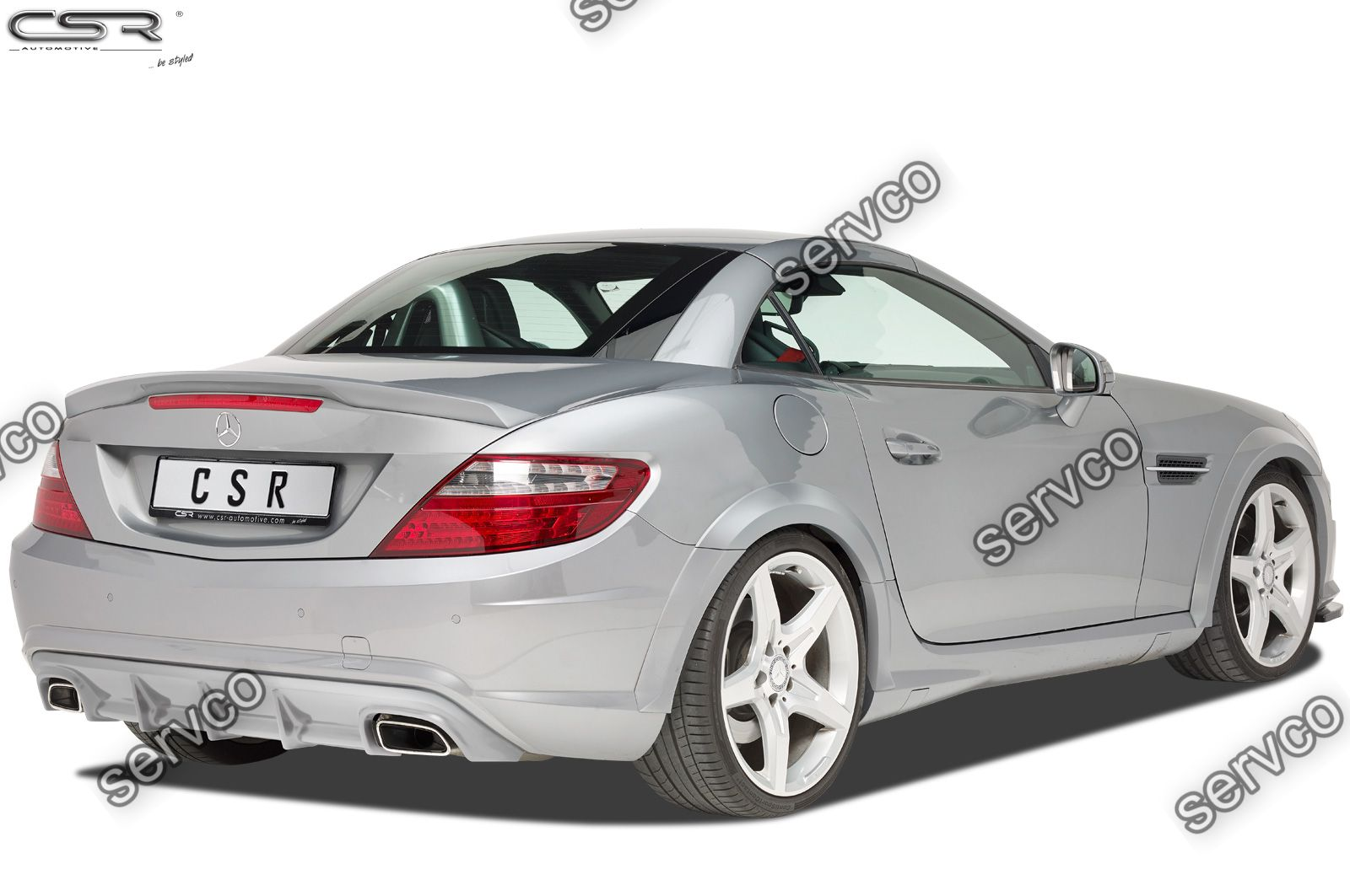 Prelungire difuzor tuning sport bara spate Mercedes SLK Class R172 AMG-Line CSR HA219 2011-2016 v1