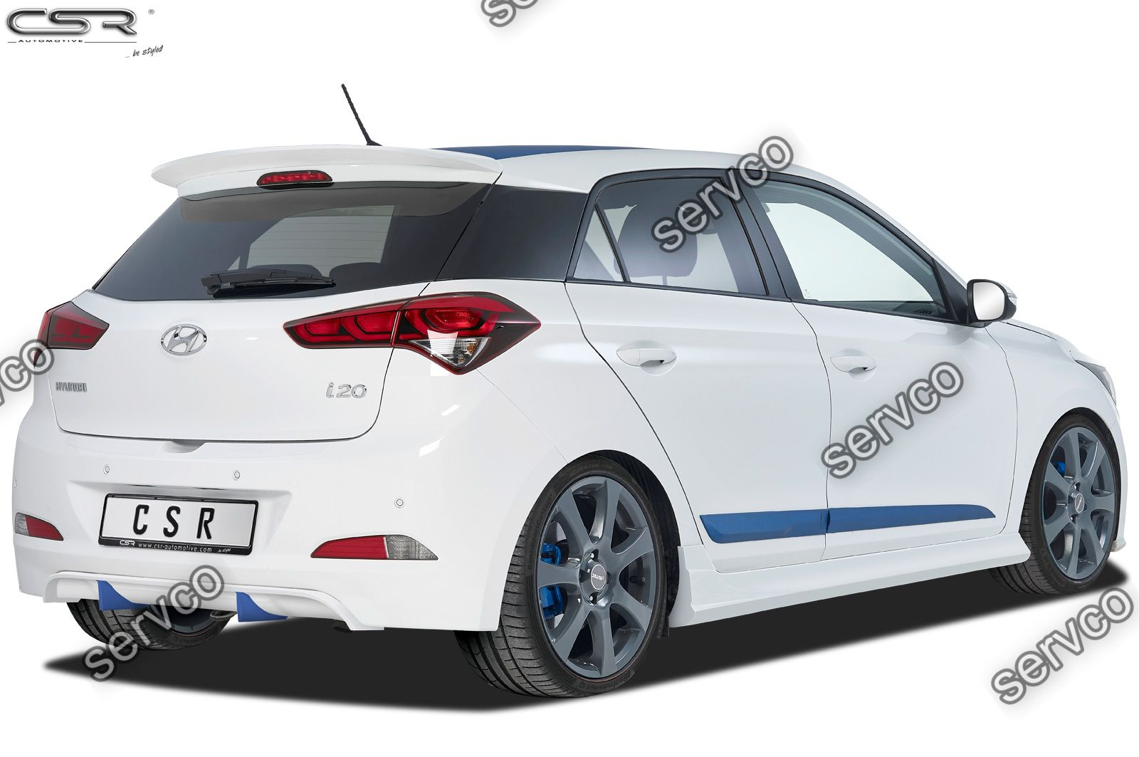 Prelungire difuzor tuning sport bara spate Hyundai I20 GB CSR HA209 2014-2018 v1