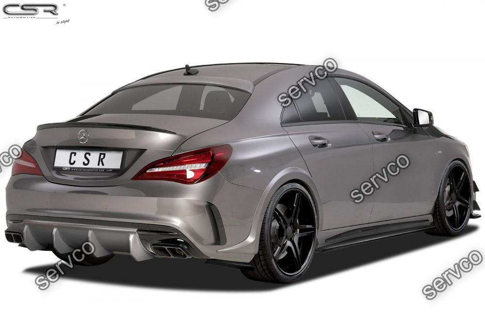 Prelungire difuzor tuning sport bara spate Mercedes Benz CLA Class 45 AMG C117 X117 CSR HA212 2015- v1