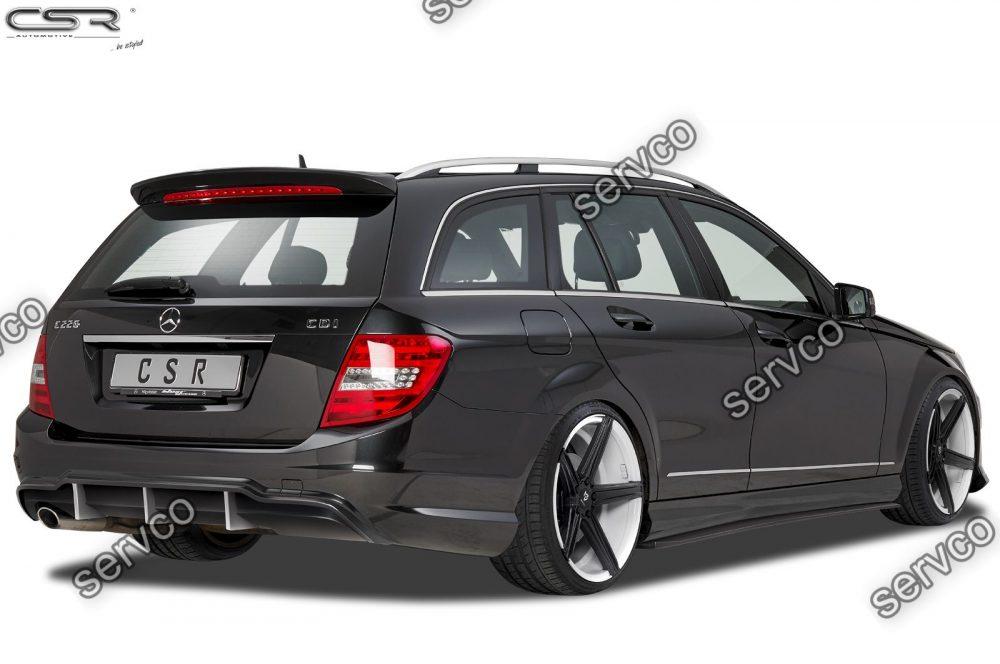 Prelungire difuzor tuning sport bara spate Mercedes C Class 204 AMG-Line CSR HA202 2011-2015 v1