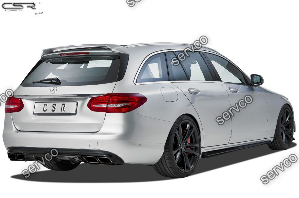 Prelungire difuzor tuning sport bara spate Mercedes C Class W/S/V/C/A 205 CSR HA200 C63 AMG Look 2014- v2