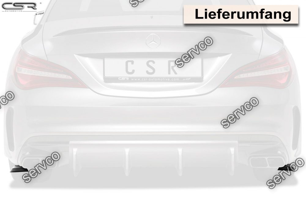 Prelungire splitter tuning sport bara spate Mercedes CLA 45 AMG C117 X117 CSR HA213 2015- v2