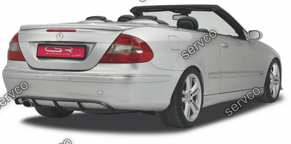 Prelungire difuzor tuning sport bara spate Mercedes CLK Class W209 C209 A209 CSR HA122 2005-2010 v1