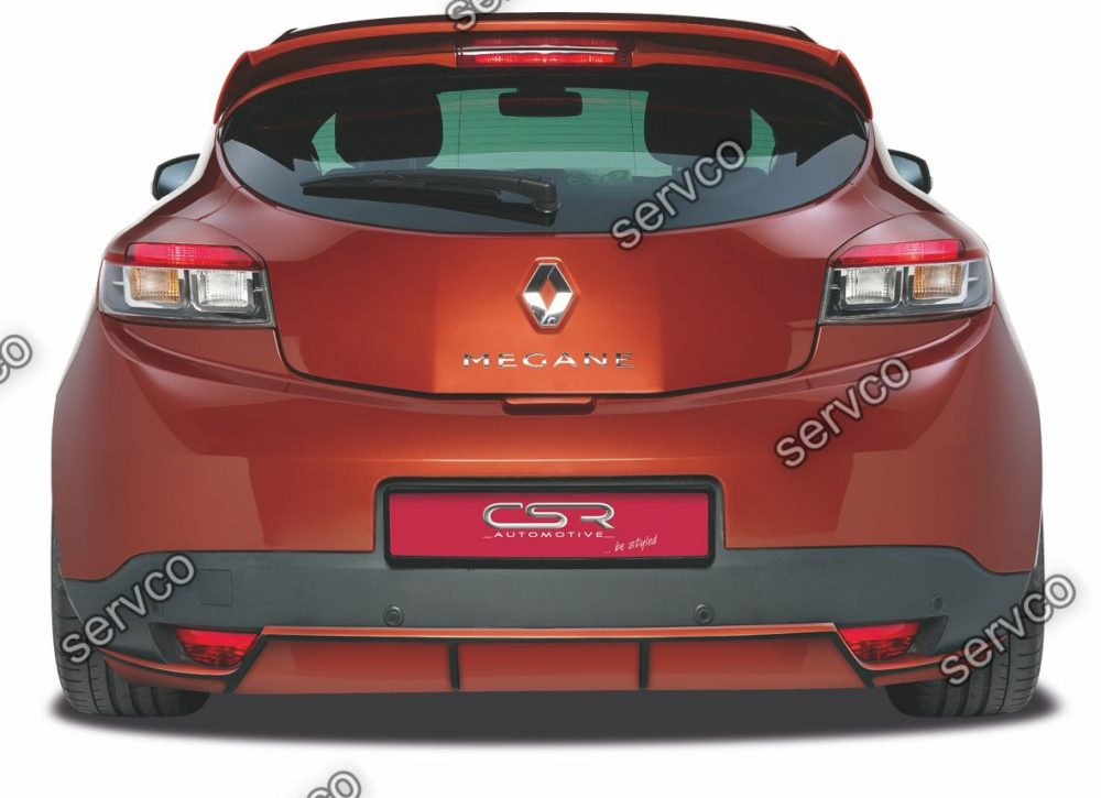 Prelungire difuzor tuning sport bara spate Renault Megane Mk3 CSR HA125 2009-2012 v1