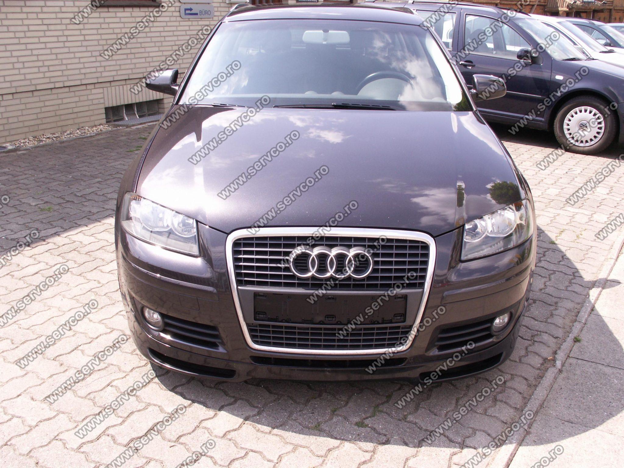 Prelungire tuning sport spoiler bara fata Audi A3 8P Coupe Votex 2005-2008 ver2