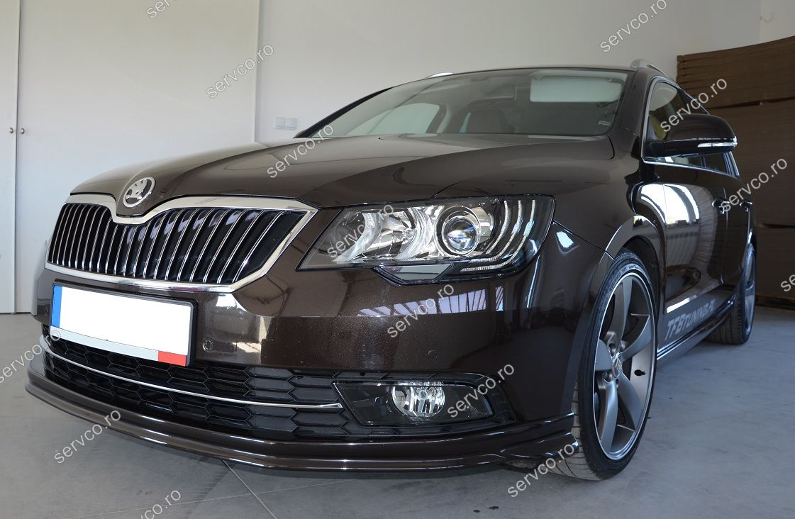 prelungire spoiler bara fata skoda superb facelift 2 b6 3t ver1 servco tuning bazar servco. Black Bedroom Furniture Sets. Home Design Ideas
