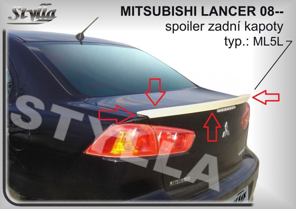 Eleron spoiler tuning sport portbagaj Mitsubishi Lancer GTS Evo X CY2A CZ4A 2007-2017 ver2