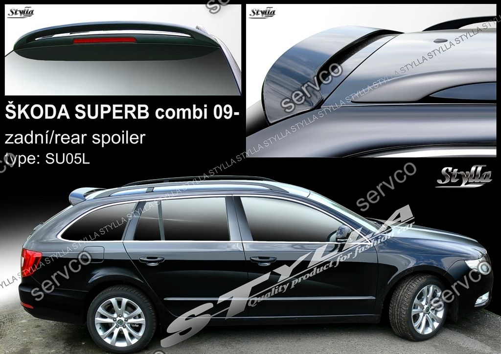 eleron spoiler tuning sport skoda superb 2 mk2 b6 3t combi. Black Bedroom Furniture Sets. Home Design Ideas