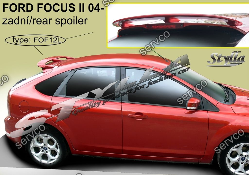eleron spoiler tuning sport ford focus 2 mk2 hb hatchback. Black Bedroom Furniture Sets. Home Design Ideas