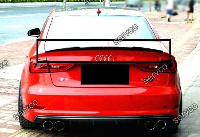 eleron spoiler tuning sport audi a3 s3 8v rs3 sedan limo. Black Bedroom Furniture Sets. Home Design Ideas