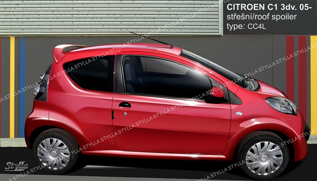 eleron spoiler tuning sport citroen c1 vts gti vti coupe. Black Bedroom Furniture Sets. Home Design Ideas