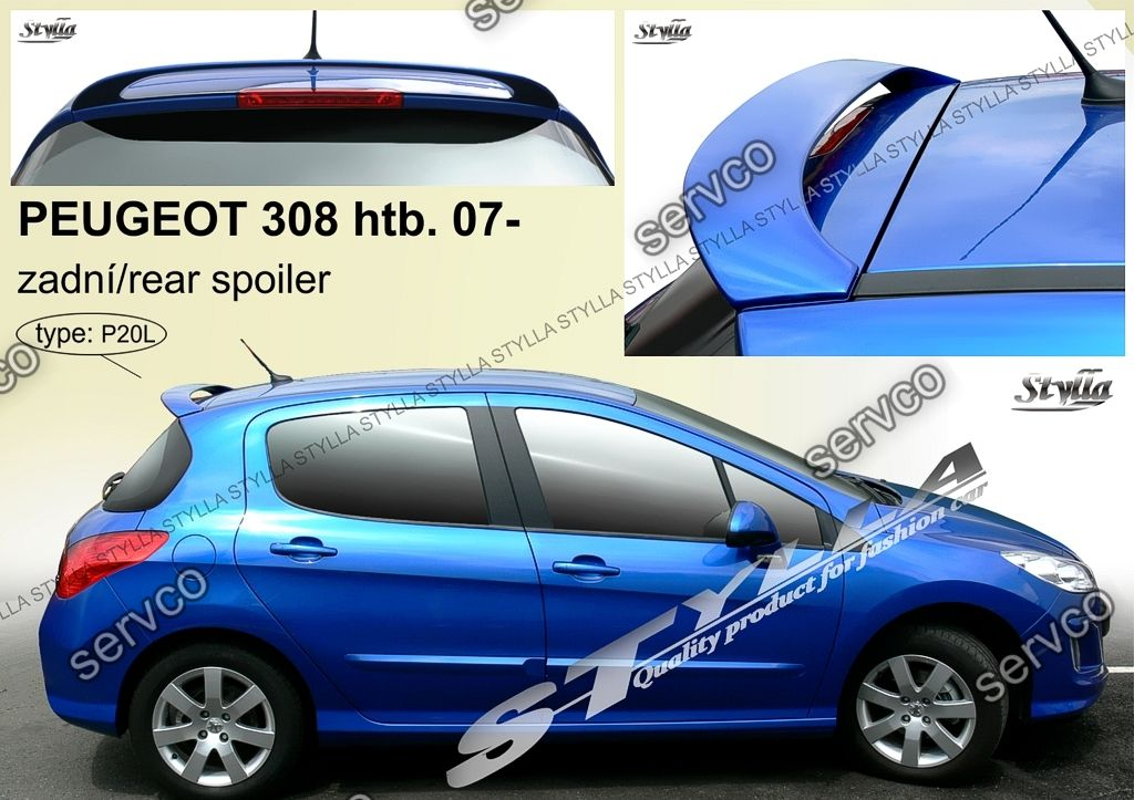 eleron spoiler tuning sport peugeot 308 gt gti hb vti 2008. Black Bedroom Furniture Sets. Home Design Ideas