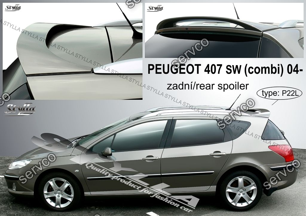 eleron spoiler tuning sport peugeot 407 sw street wagon touring 2004 2010 ver2 servco tuning. Black Bedroom Furniture Sets. Home Design Ideas