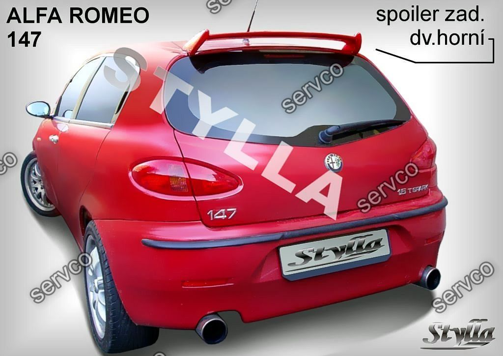 eleron spoiler tuning sport alfa romeo 147 gta 2000 2010 ver1 servco tuning bazar servco. Black Bedroom Furniture Sets. Home Design Ideas