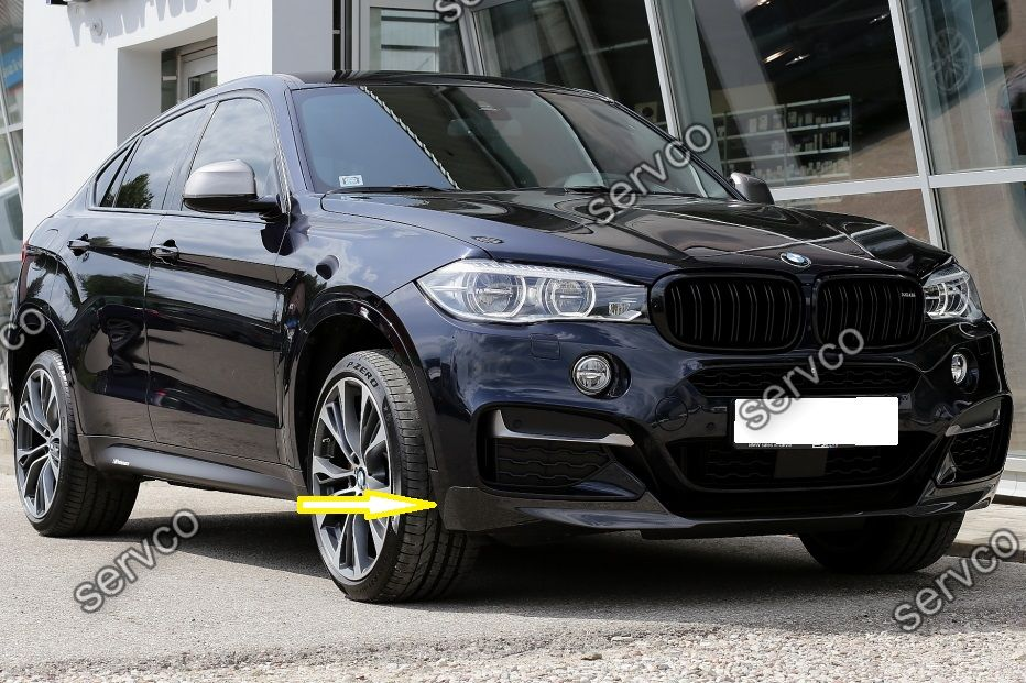 prelungire lip fusta spoiler bara fata bmw x6 f16 m performance aero pack sport ver1 servco. Black Bedroom Furniture Sets. Home Design Ideas