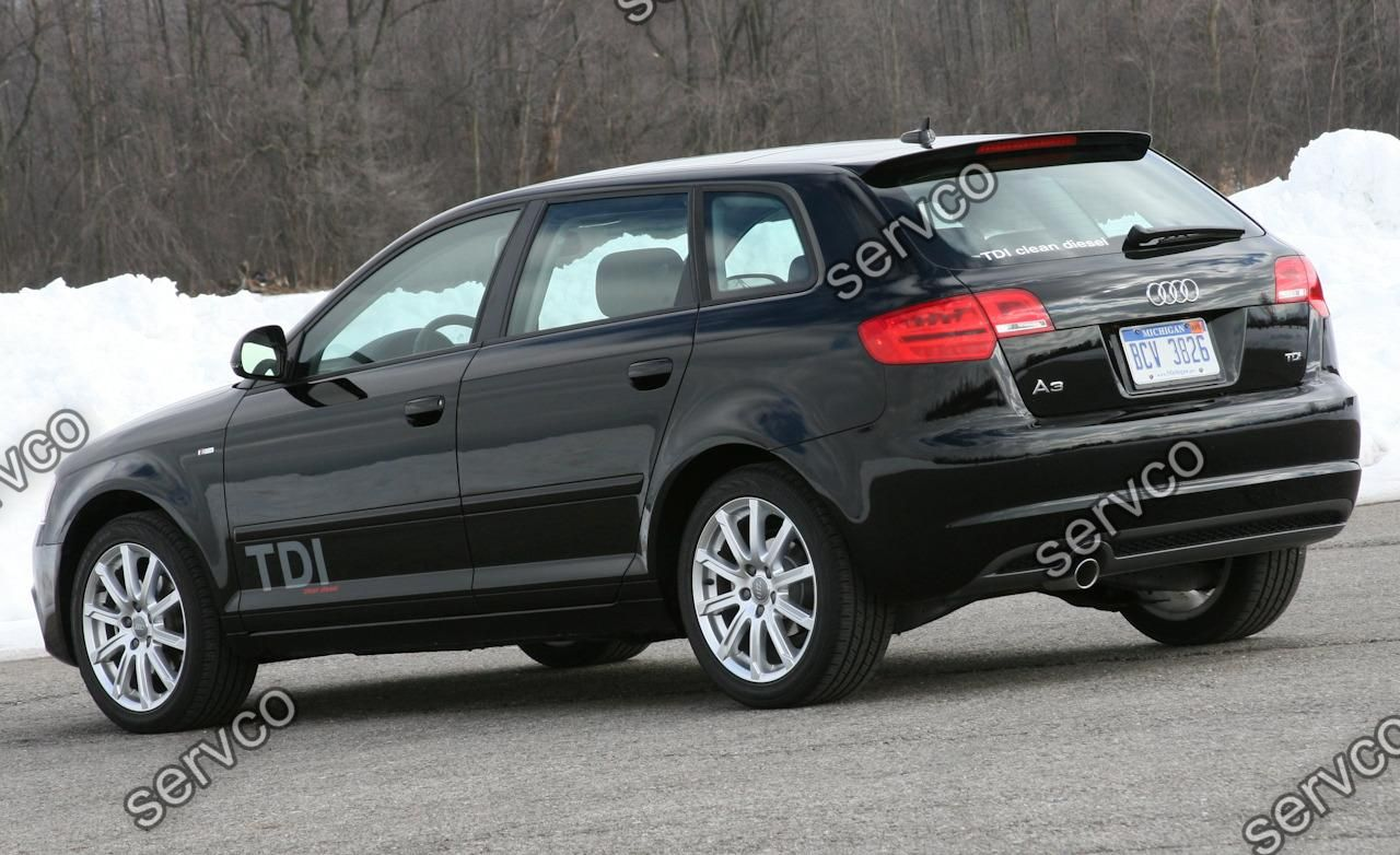 difuzor spoiler bara spate audi a3 8p coupe sportback. Black Bedroom Furniture Sets. Home Design Ideas