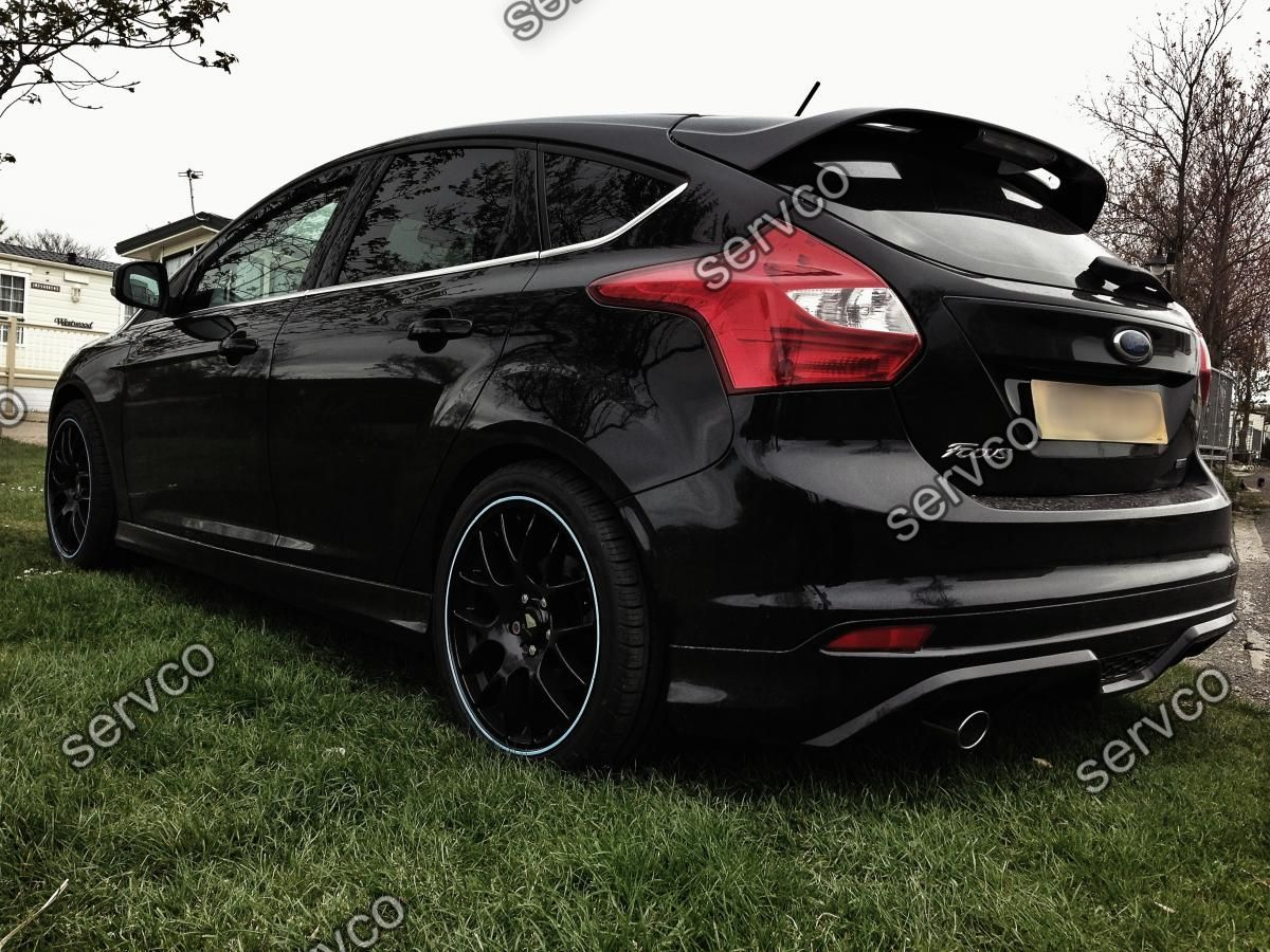 prelungire fusta spoiler difuzor bara spate tuning sport ford focus mk3 st zetec s titanium x. Black Bedroom Furniture Sets. Home Design Ideas