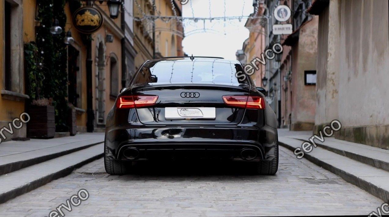 Difuzor tuning sport bara spate Audi A6 C7 4G S6 RS6 S-line Sline S line 2012-2014 v6
