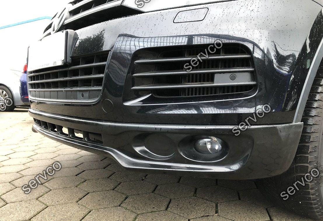 Prelungire spoiler tuning sport bara fata VW Touareg 7P5 Rline Off Road 2011-2015 ver2