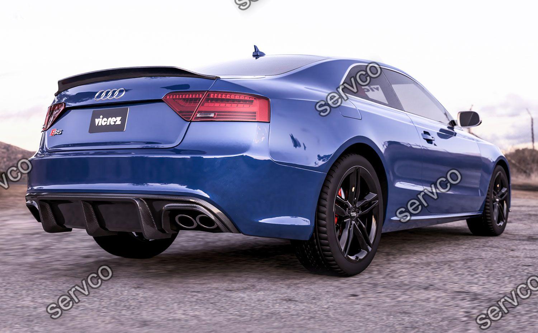 Difuzor bara spate Audi A5 Coupe Cabrio Sline ABT DTM S5 2012-2015 doar pt bara Sline S5 v10
