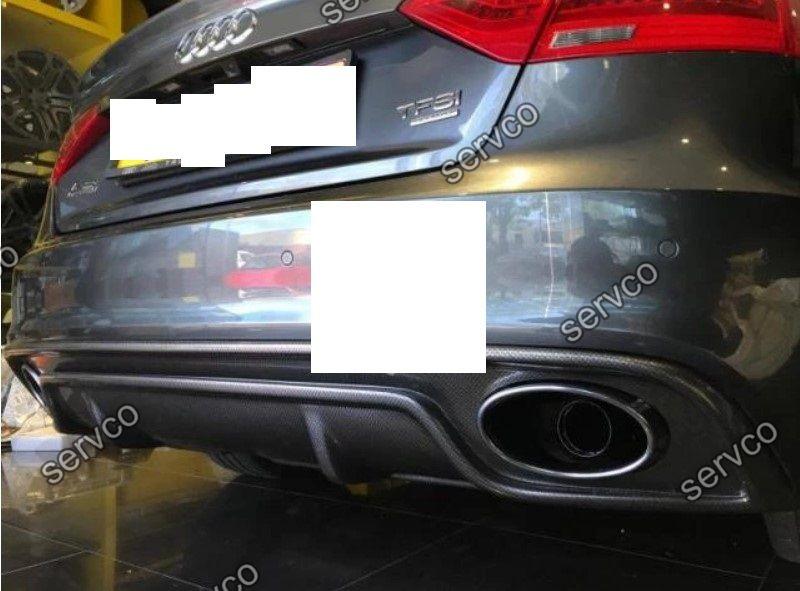 Difuzor bara spate Audi A5 Sportback Sline S5 2012-2015 doar pt bara Sline S5 Rieger v11