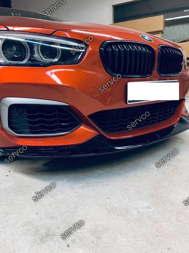 Prelungire tuning sport bara fata BMW Seria 1 F20 F21 LCI Facelift pentru Mpachet 2015- v5
