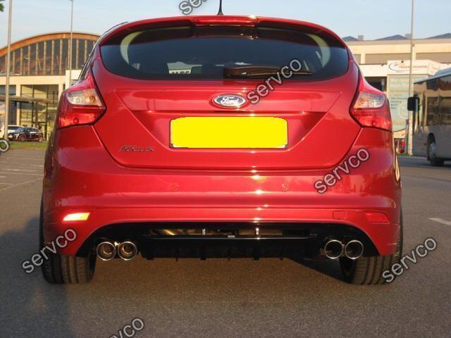 Prelungire fusta spoiler difuzor bara spate tuning sport Ford Focus Mk3 ST Zetec S Titanium X Trend Studio Style RS 2011-2014 v2