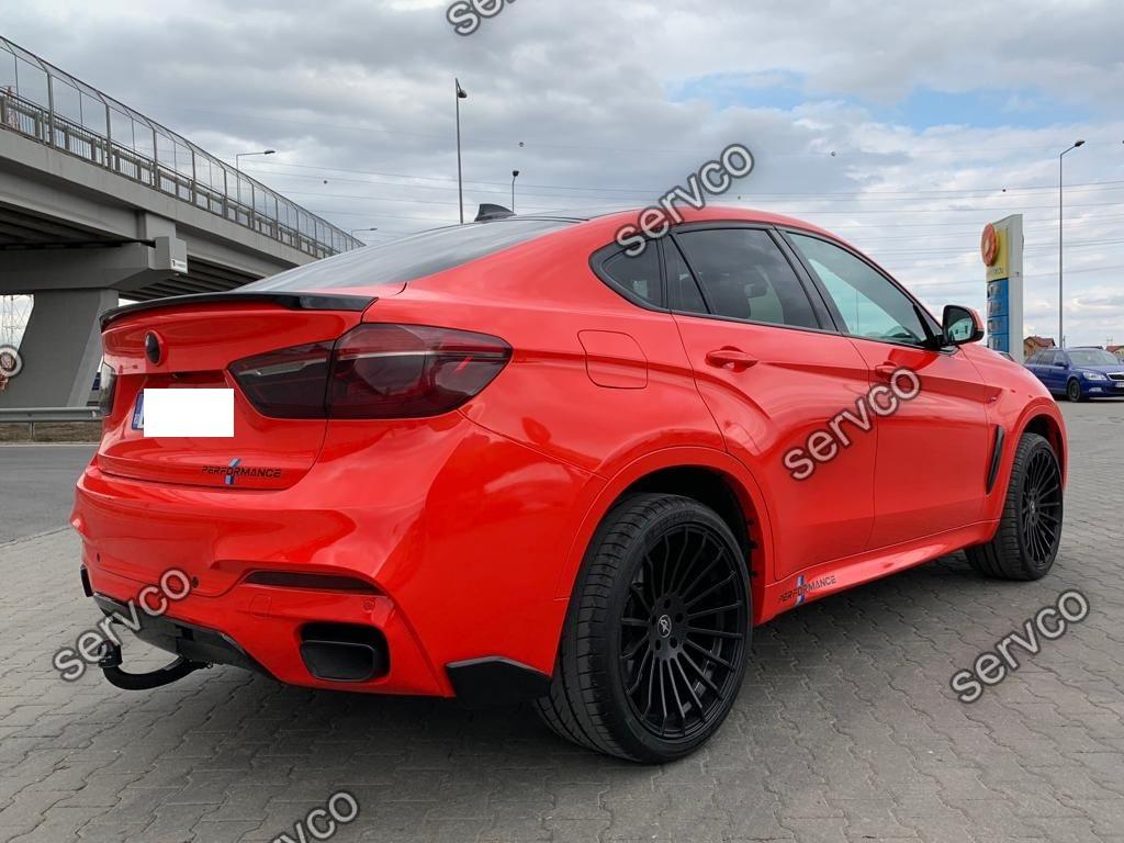 Set prelungiri splittere flapsuri bara spate BMW X6 F16 2015-2018 v2