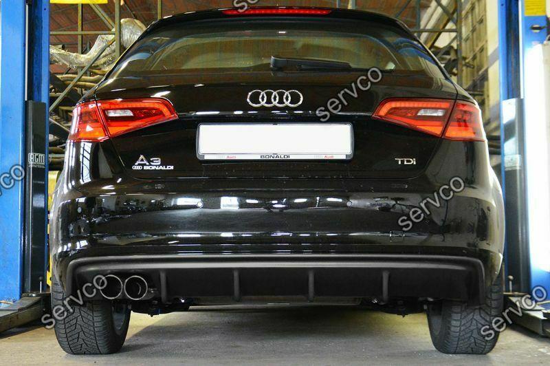 Prelungire difuzor bara spate Audi A3 8V Coupe Sportback 2012-2015 doar pt bara normala DTM S3 RS3 v5