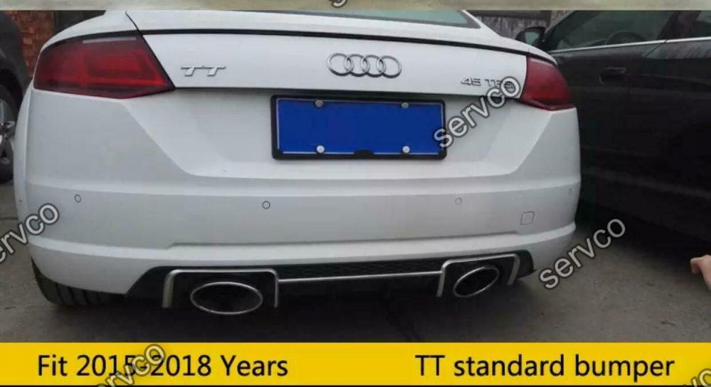 Prelungire difuzor bara spate Audi TT Mk3 FV 8S 2015-2018 doar bara normala TT RS S DTM v4