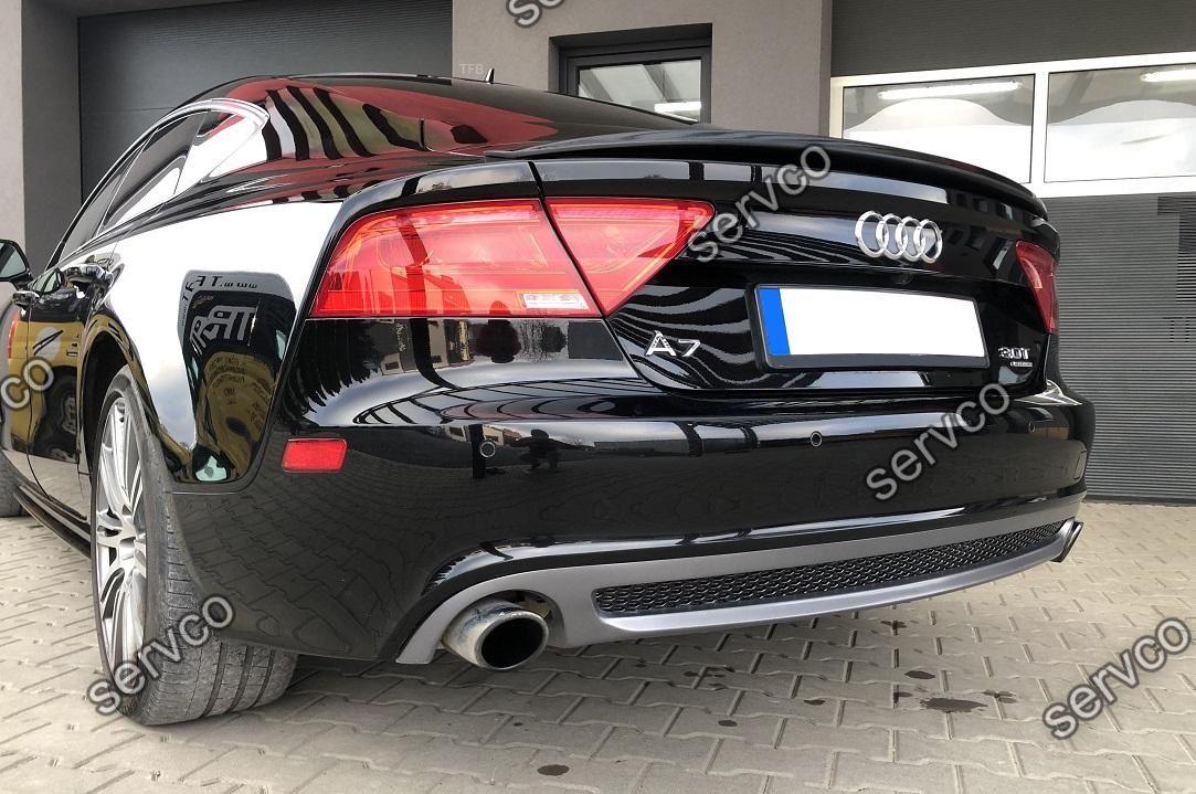 Difuzor tuning sport bara spate Audi A7 4G8 2010-2014 v2