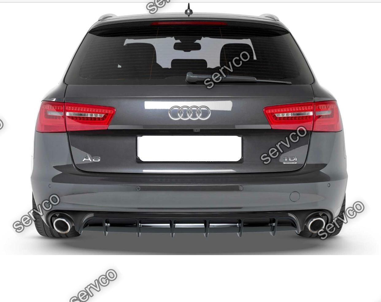 Difuzor tuning sport bara spate Audi A6 C7 2012-2015 v7